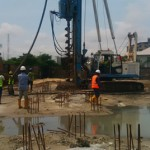 Piling Shoreline , driven piles, precast concrete driving, Bored piles and water bore hole drilling services.
